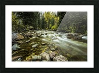 Rocky Mountain Stream Picture Frame print