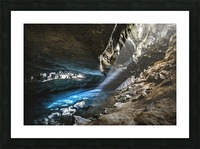 The Blue Cave Picture Frame print