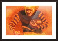 vintage football posters vintage football jersey old helmet poster_1586306536.6399 Picture Frame print