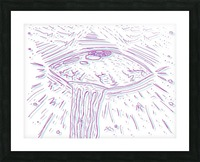 Cosmic Interferenss Picture Frame print