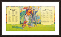 1935 college football season lineup cal tech loyola sideline art poster Picture Frame print