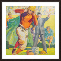 football poster american vintage gridiron sideline art print Picture Frame print