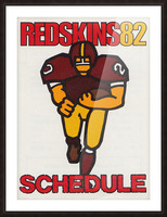 1982 Washington Redskins NFL Football Schedule Art Poster Row One Brand Picture Frame print