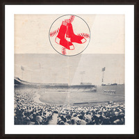 Vintage Fenway Park Poster_Boston Red Sox Photo Reproduction Picture Frame print