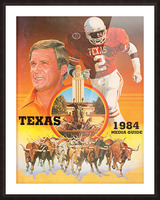 1984 Texas Longhorns Media Guide College Football Poster Picture Frame print