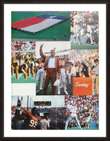 Texas Longhorns Football Poster_Texas Longhorn College Football Photo Collage Picture Frame print