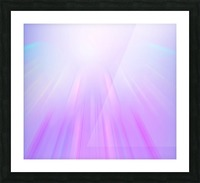 Purple Angel Picture Frame print