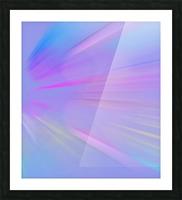 Purple Comet Picture Frame print