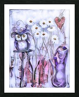Marguerites Picture Frame print