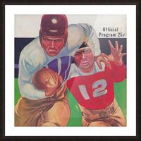 Vintage Football Framed Program Cover Art Posters (1937) Picture Frame print