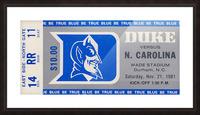 1981 Duke vs. North Carolina Picture Frame print