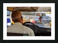 Taxi driver in Cuba Picture Frame print