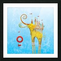Castellini Elephantini Dorado Picture Frame print