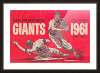 1961 San Francisco Giants Scorecard_Bay Area Home Decor Ideas Picture Frame print
