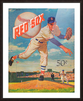 1959_Boston Red Sox_Baseball Yearbook_Poster_Vintage Baseball Art Print Reproductions Picture Frame print
