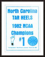 1982 North Carolina Tar Heels NCAA Champions Poster Reproduction Art Picture Frame print