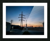 Industrial sunset Picture Frame print