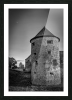 Old castle tower Picture Frame print