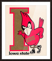 Vintage Iowa State University Cyclone Poster (1) Picture Frame print