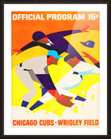 1967 Chicago Cubs Wrigley Field Program Poster_Vintage Cubs Art Picture Frame print