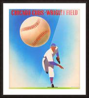 Retro Remix_Chicago Cubs Wrigley Field Art Poster_Vintage Cubs Artwork_Vintage Baseball Poster Picture Frame print