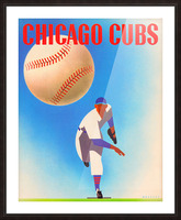 Otis Shepard Remix_Public Domain Sports Art Remixes_Chicago Cubs Poster by Row One Picture Frame print