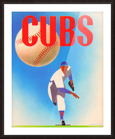 Cubs Art Picture Frame print