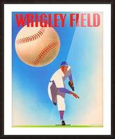 Row One Brand Wrigley Field Art Remixes_Public Domain Sports Art Remixes_Chicago Cubs Poster Picture Frame print