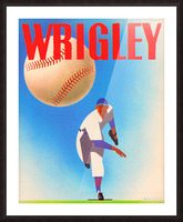 Row One Brand Sports Art Remixes_Public Domain Sports Art Remix_Chicago Cubs Wrigley Poster Picture Frame print