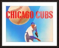 Sports Art Remixes_Public Domain Sports Art Creations_Chicago Cubs Poster (1950) Picture Frame print