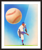 Baseball Pitcher Art Picture Frame print