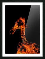 Burning on Fire Letter A Picture Frame print
