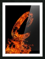 Burning on Fire Letter C Picture Frame print