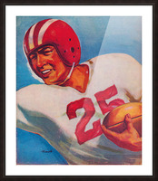 Vintage Football Art Uniform Jersey 25 Picture Frame print
