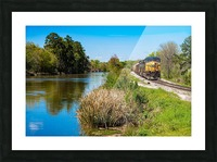 CSX Train along the Augusta Canal GA 02909 Picture Frame print
