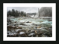 River in Winter Picture Frame print