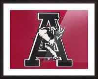 vintage alabama a elephant artwork 1982 college poster Picture Frame print