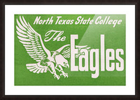 north texas state college unt eagles vintage poster college art collection Picture Frame print