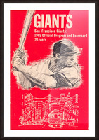1965 san francisco giants program baseball scorecard poster Picture Frame print