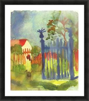 Garden gate by Macke Picture Frame print