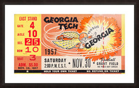 College_FootballArt_GeorgiaTechvs.Georgia_GrantField_TicketStubArt Picture Frame print