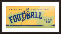 1939 Ames Football Admit One Ticket Picture Frame print