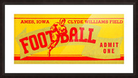 Vintage Iowa State Picture Frame print