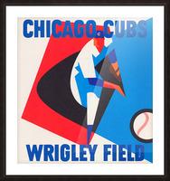 Retro_Remix_Sports_Program_Scorecard_Posters_Row_One_Chicago_Cubs Picture Frame print
