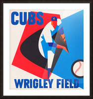 Cubs Wrigley Field Art Picture Frame print
