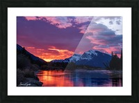 Bow River Sunrise East Picture Frame print