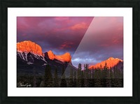 Ha Ling Mountain Range Sunrise Picture Frame print