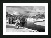 Snowy Bow River Canmore Alberta Picture Frame print