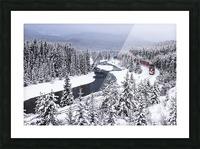 Morants Curve  Banff National Park Picture Frame print