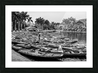 Boats in the river of Vietnam Picture Frame print